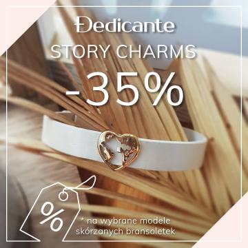 Kto już widział nasze Instastory? 💛  Mamy dla Was super wiadomość 🔜 Od teraz skórzane bazy STORY CHARMS z wybranymi zawieszkami kupisz -35% taniej❕  . . 🧡💛 Wybierz bransoletkę z zawieszką, która najbardziej pasuje do Ciebie i zacznij tworzenie swojej historii 💛🧡 #storycharms  . . #promocja #bransoletkazcharmsami #charms #bransoletka #twojahistoria #bransoletkaskórzana #charmsbracelet #bracelet #wyprzedaż #sale #przecena #-35% #teraztaniej